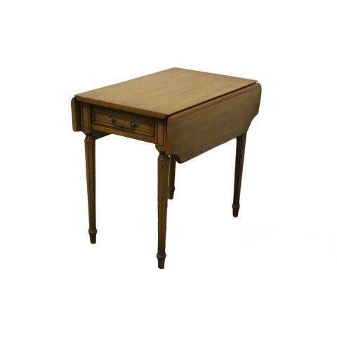20th Century Traditional Columbia Manufacturing Mahogany Pembroke End Table For Sale - Image 13 of 13