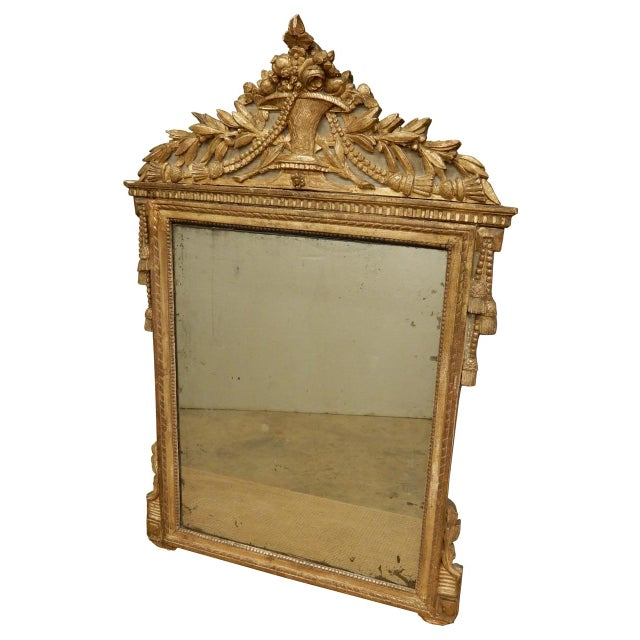 Gold 18th C. French Directoire Mirror For Sale - Image 8 of 8