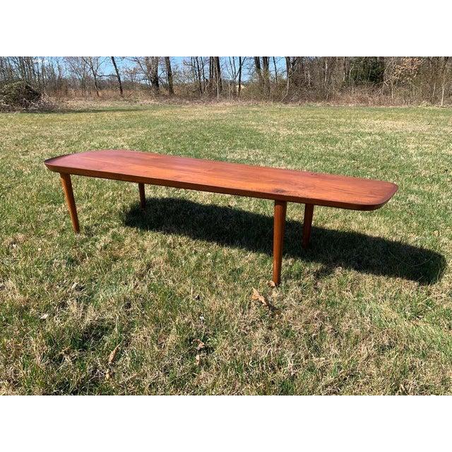Hovmand-Olsen for Jutex Teak Coffee Table, Denmark, 1950s For Sale In Philadelphia - Image 6 of 13