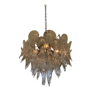 Camer Murano Calla Lily Chandelier For Sale