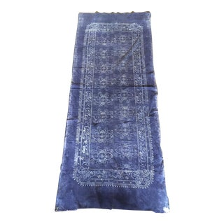 Indogo & White Antique Batik Fabric