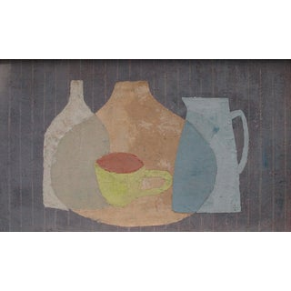 """Enni Painting """"Yellow Cup"""", Contemporary Colorful Still Life"""