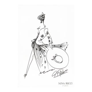 Nina Ricci Fashion Design Drawing
