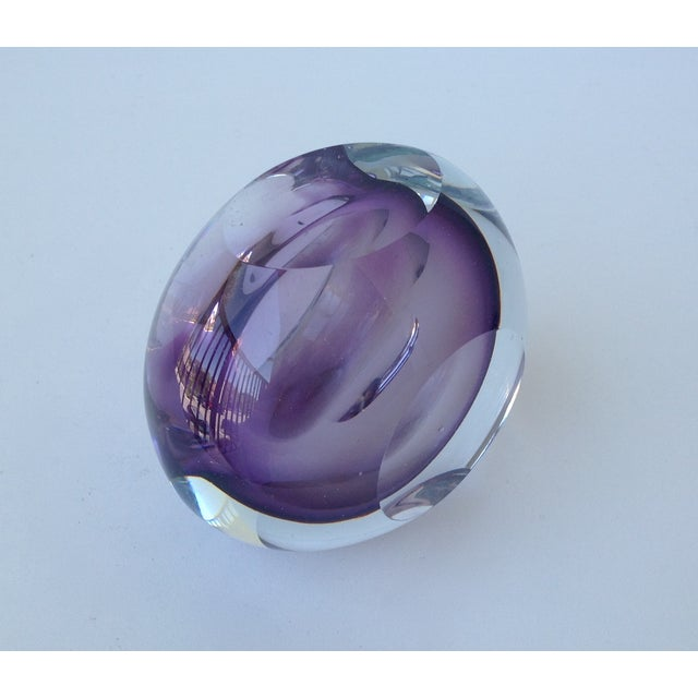 Italian Murano Sommerso Purple & Clear Bowl For Sale - Image 9 of 11