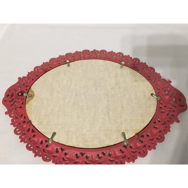 Emig Cast Iron Oval Mirror - Image 6 of 7