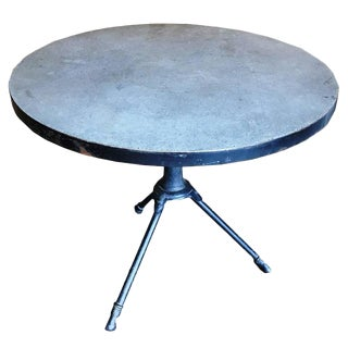 Metal and Concrete Table For Sale