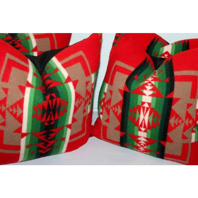 These amazing and graphic Indian camp blanket pillows are sold in pairs. The backing is a black cotton linen backing. They...