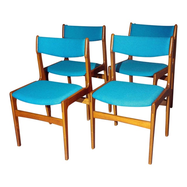 Vintage Mid-Century Curated Teak Dining Chairs - Set of 4 For Sale