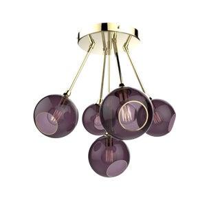 Ballroom Molecule Chandelier - Purple Rain / Gold For Sale
