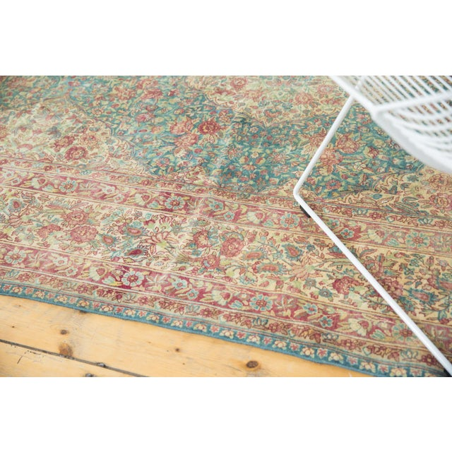 Vintage Distressed Kerman Carpet - 10' X 16' For Sale - Image 9 of 13