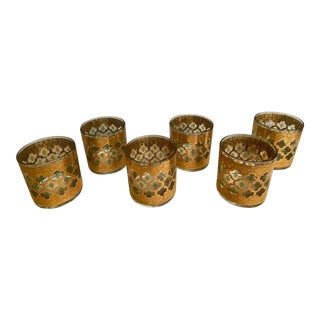 Culver Valencia Rocks Glasses - Set of 6 For Sale