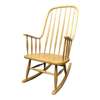 Mid-Century Spindle Back Rocking Chair