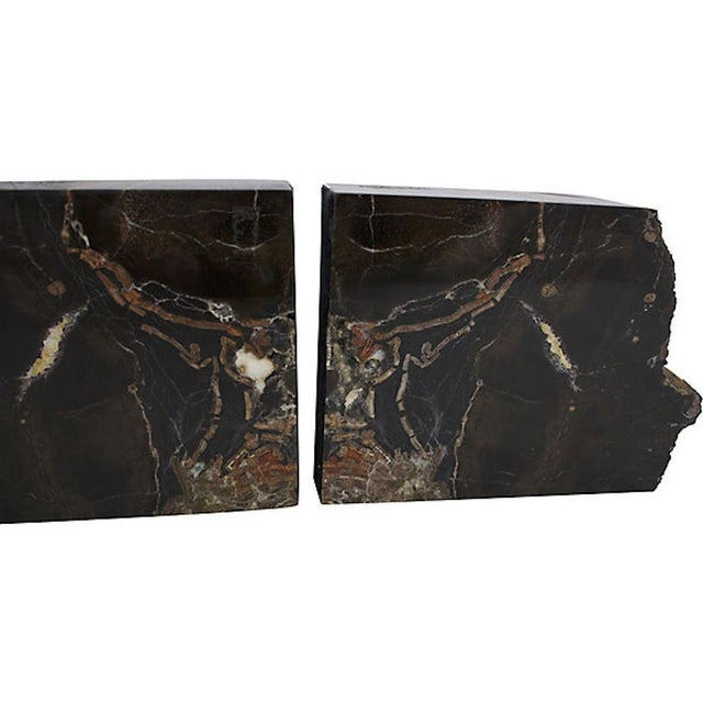 Black Vintage Petrified Wood Bookends For Sale - Image 8 of 10