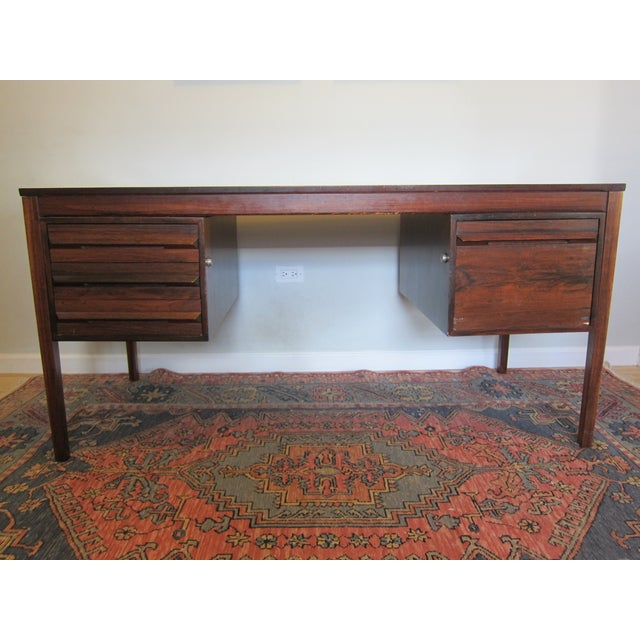 Torbjorn Afdal Mid-Century Rosewood Desk - Image 2 of 11