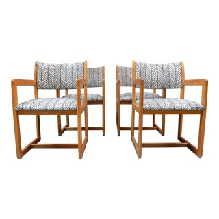 1980s Vintage Upholstered Dining Room Chairs- Set of 4 For Sale
