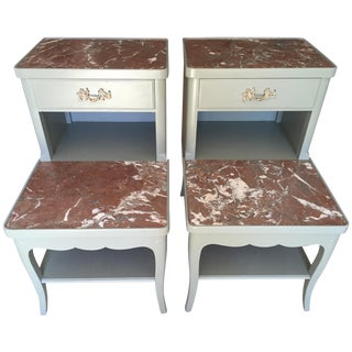 Vintage French Provincial Nightstands-A Pair For Sale