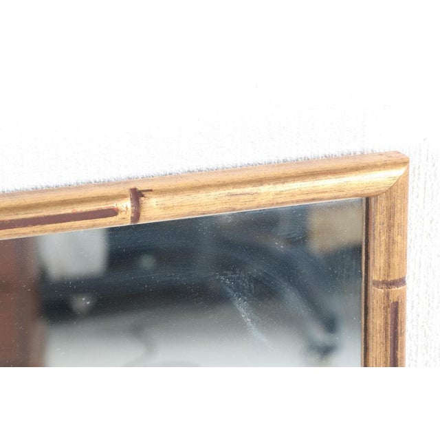 Large Giltwood Faux Bamboo Wall Mirrors - a Pair For Sale - Image 4 of 8