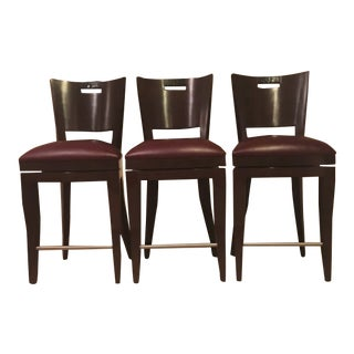 "Berman Rosetti ""Foal"" Designer Bar/Counter Stools-Set of 3 For Sale"