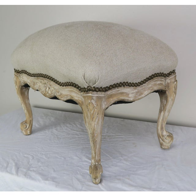 French Louis XV Style Linen Bench, Circa 1900 For Sale - Image 11 of 13