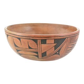 Hopi Style Design Hand Painted Bowl For Sale