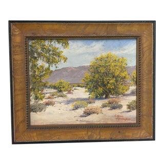 Edna Spangler Oil Painting Desert Palm Springs For Sale