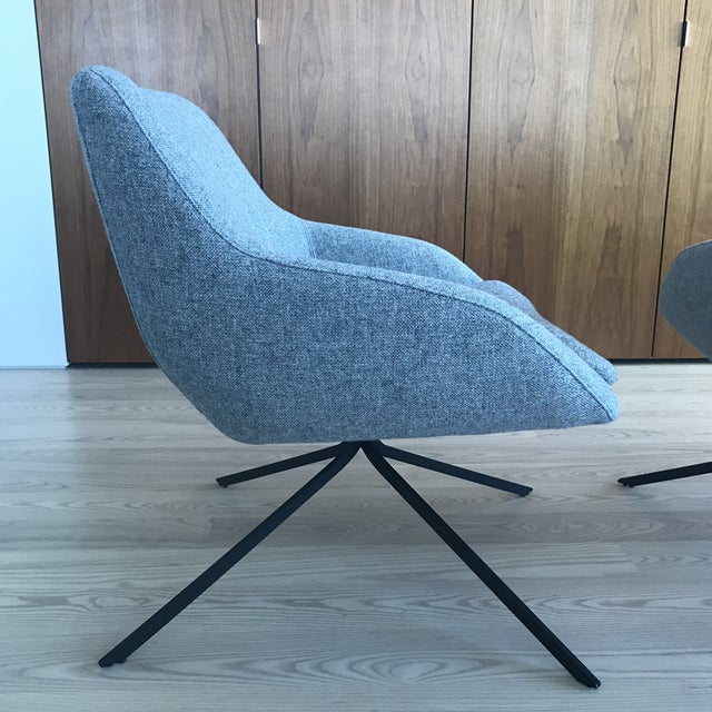 Palau Blue Swivel Chairs - A Pair - Image 6 of 8