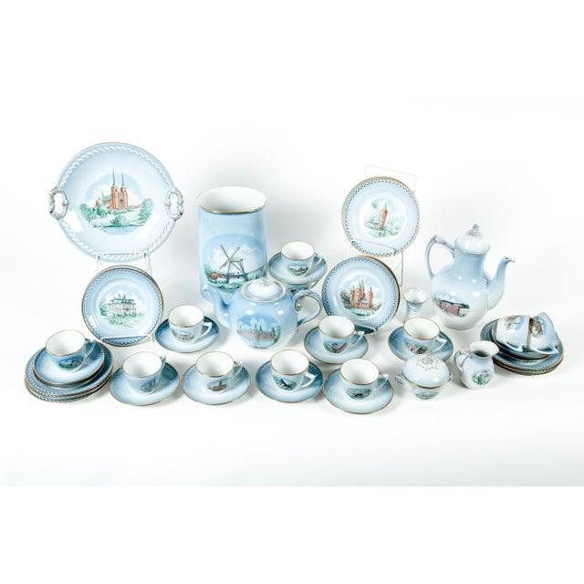Traditional Danish Porcelain Tea & Coffee Set - Set of 43 For Sale - Image 3 of 4
