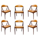 Image of Set of Six Rosewood Kai Kristiansen Chairs For Sale