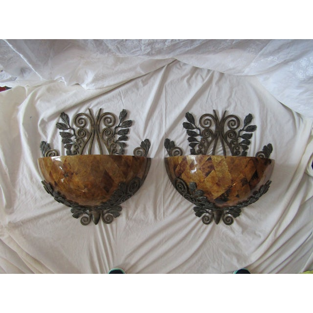 Maitland Smith Penshell Sconces - Pair - Image 4 of 5