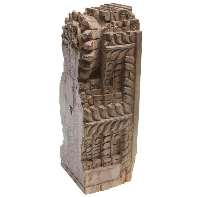 Antique Hand Carved Teak Bloomed Corbel For Sale - Image 4 of 4