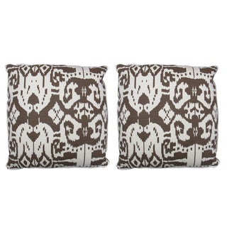 "Oomph Brown ""Island Ikat"" Pillows- a Pair"