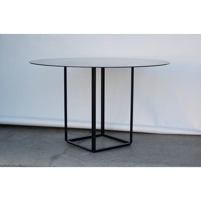 The Cuboid Minimalist Center or Breakfast Table by Design Frères.