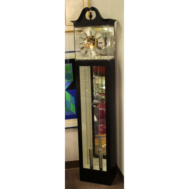 For your consideration is a gorgeous, standing grandmother clock, with a Lucite face, by Barwick for Howard Miller, circa...