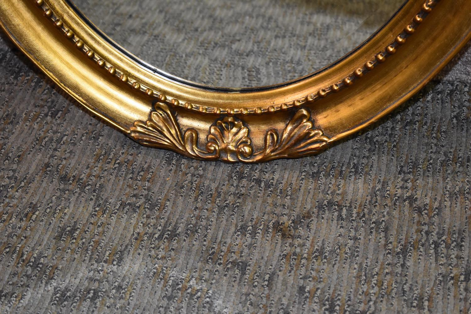 Baroque Gold Mirrors Pair Of Oval Wall Mirrors Have A Baroque Style. Gold Finish Frame. The  Measurements