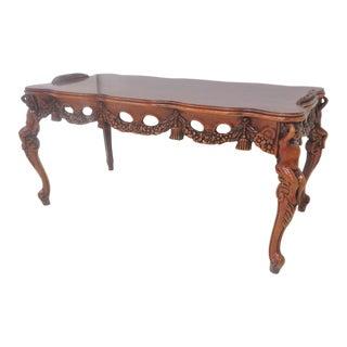 Mahogany Cherub Carved Coffee Table