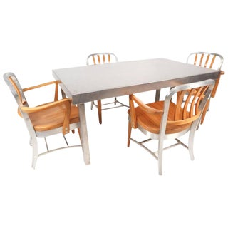 Shaw Walker Vintage Industrial Metal Dining Set