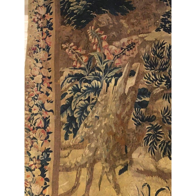 Fabric A 17th / Early 18th Century Flemish Pastoral Tapestry Prov. Christies NYC. For Sale - Image 7 of 12