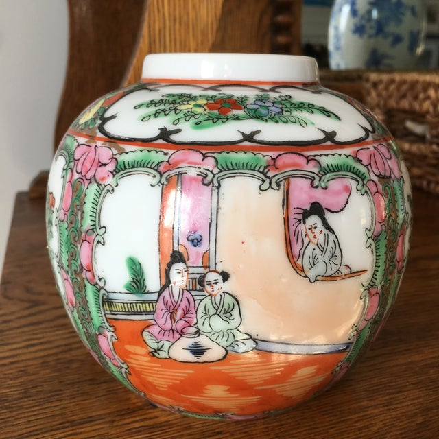 This petite ginger jar is such a little beauty packed with vibrant color and detail. Rose Medallion is one of my favorite...