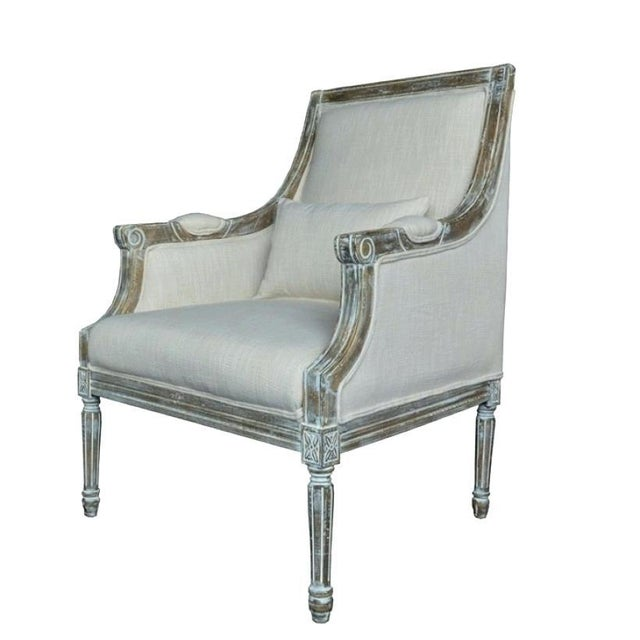 21st Century Kate Linen Chair For Sale - Image 10 of 10