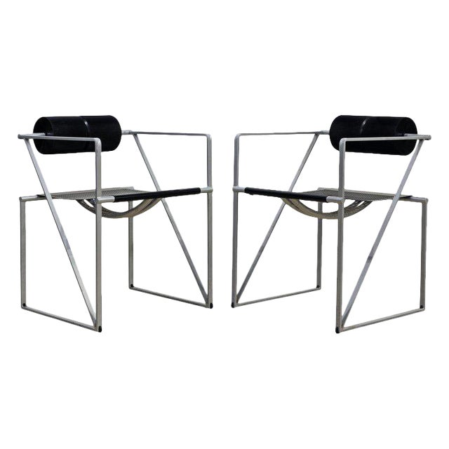 Pair of Seconda 602 Armchairs Designed by Architect Mario Botta for Alias, Italy For Sale