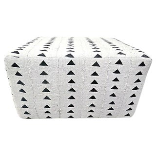 Fragments Identity Organic Hand-Woven Natural Ottoman For Sale