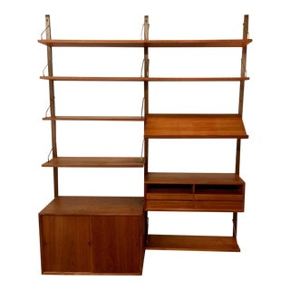 Poul Cadovius Cado Royal System Two Bay Wall Unit in Teak For Sale