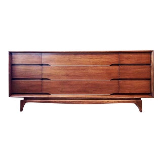 1900s Mid Century Modern Kent Coffey Forum Credenza Buffet Dresser For Sale