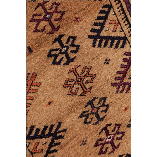 """Islamic 1950s Turkish Wool & Camel Hair Area Rug - 40"""" x 62"""" For Sale - Image 3 of 4"""