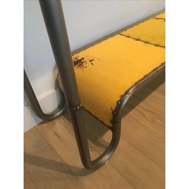 Industrial Salvaged Steel Console - Image 9 of 9