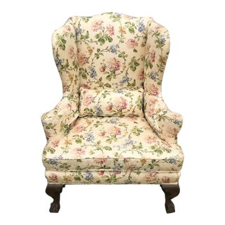 Mahogany Chippendale Style Wing Chair For Sale