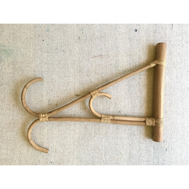 Vintage Rattan Hanger Hook For Sale - Image 4 of 10