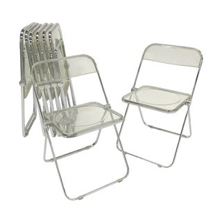 "1970s Castelli ""Plia"" Acrylic Chairs - Set of 8 For Sale"