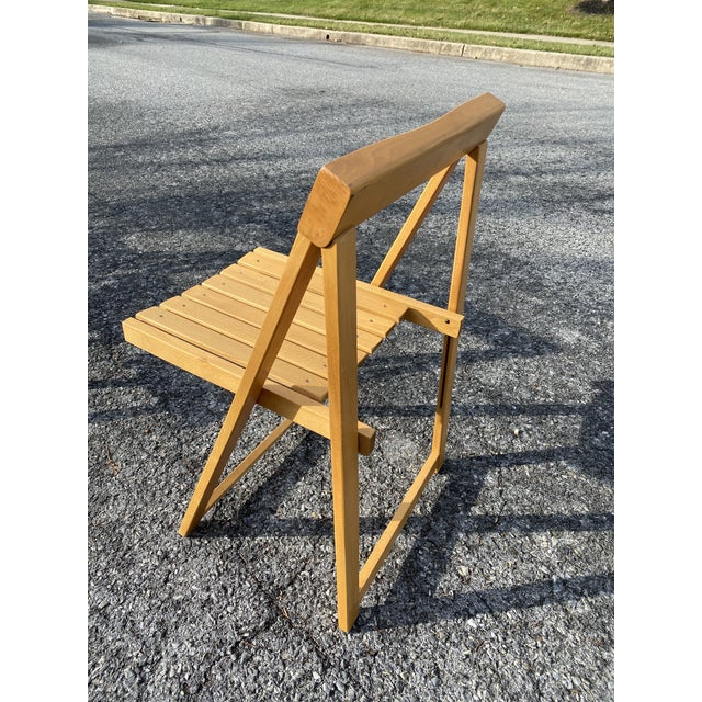 1950s Vintage Maple Folding Chairs - Set of 4 For Sale - Image 5 of 11