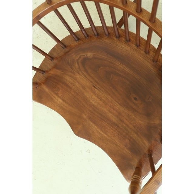 Frederick Duckloe Cherry Fan Back Windsor Rocking Chair For Sale In Philadelphia - Image 6 of 10